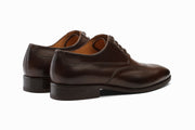 Swan Neck Leather Oxford - Dark Brown