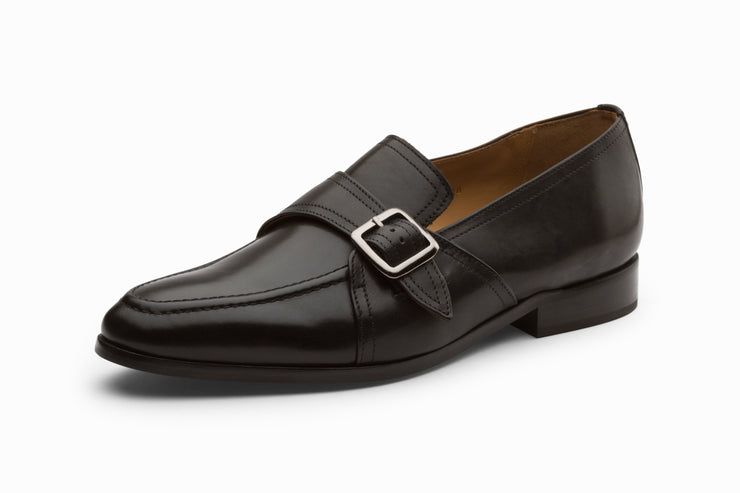 Monk Style Loafer - Black ( UK 10 & 11 ONLY )