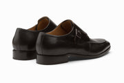 Single Monkstrap Leather Shoes - Black UK 9,11& 12 ONLY )