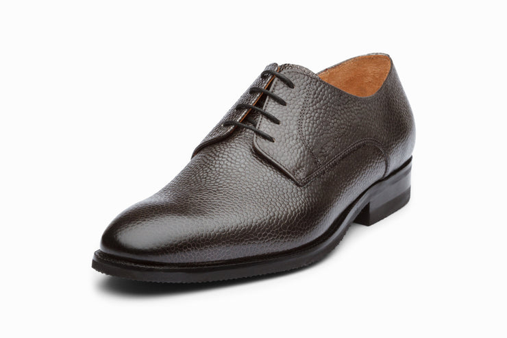 Grain Leather Derby - Grey