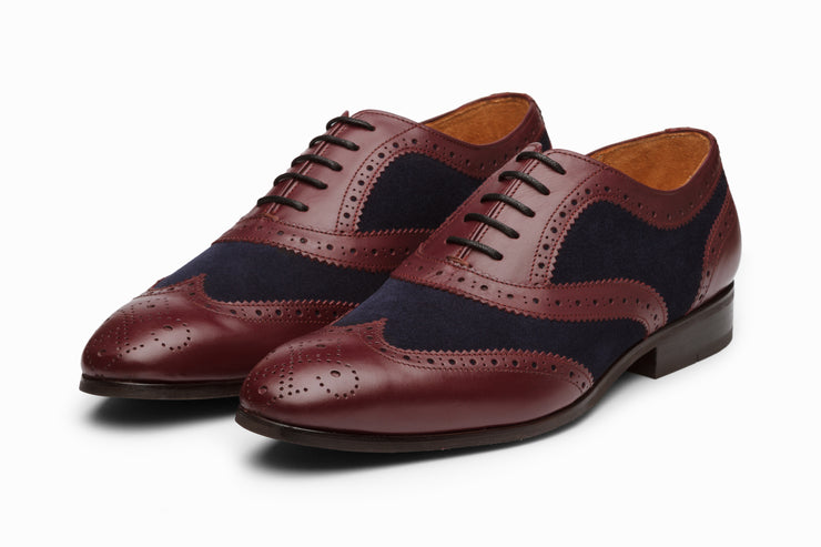 Wingtip Brogue Oxford Burgundy/Navy (UK 7, 8 , 9 & 10 Only)