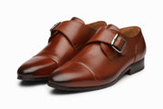 Toe Cap Single Monkstrap Cognac