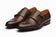 Toe Cap Double Monkstrap Dark Brown