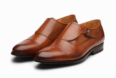 Cap Toe Single Monkstrap - Cognac