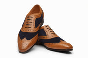 Wingtip Brogue Oxford Tan/Navy