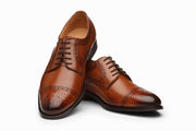 Toecap Derby Brogue - Cognac