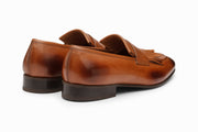 Belgian Loafers with Fringes - Tan