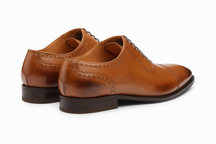 Semi Brogue Oxford - Tan