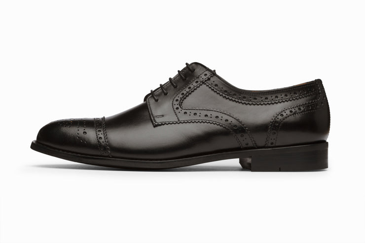 Toecap Derby Brogue - Black