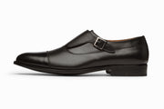 Cap Toe Single Monkstrap - Black