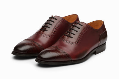 Cap Toe Oxford - Burgundy