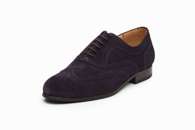 Wingtip Oxford - Navy Suede