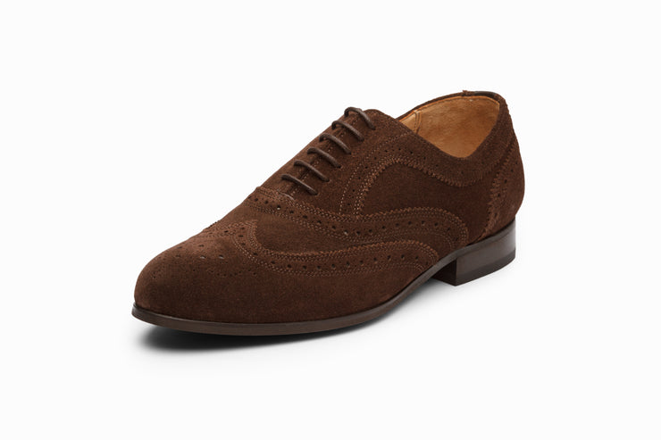 Wingtip Oxford - Brown Suede