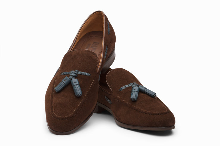 Tassel Loafers - Dark Brown Suede