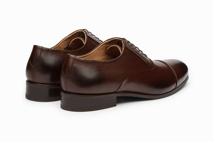 Toecap Oxford Dark Brown