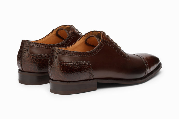 Cap Toe Oxford - Dark Brown