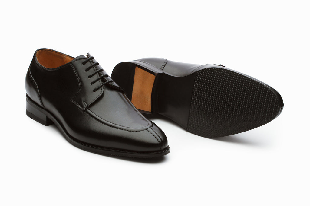 Dover Leather Derby Shoes - Black