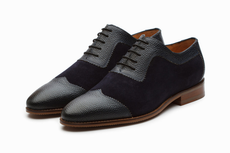 Albert Suede Oxford - Navy