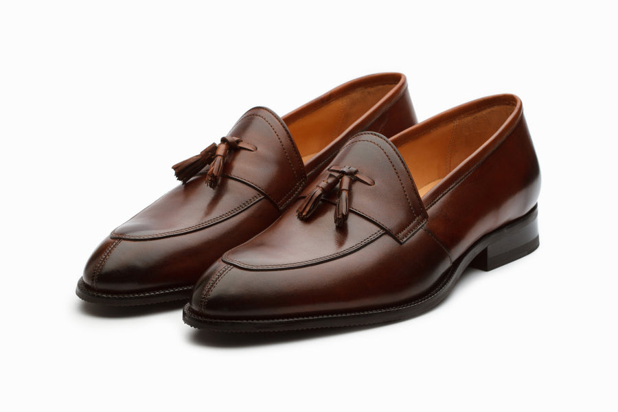 Portland Tassel Loafers - Brown