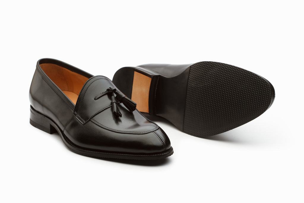 Portland Tassel Loafers - Black