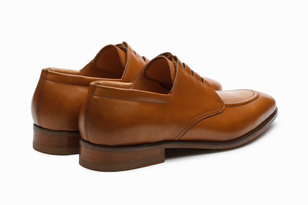 Derby - Stanford Leather Derby Shoes - Tan