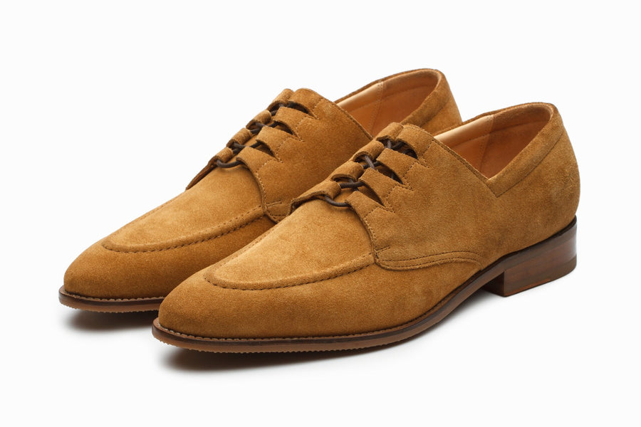 Derby - Stanford Suede Derby Shoes - Sand