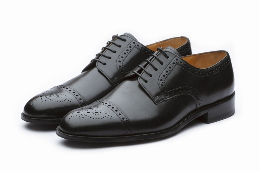 Derby - Toecap Derby Brogue - Black