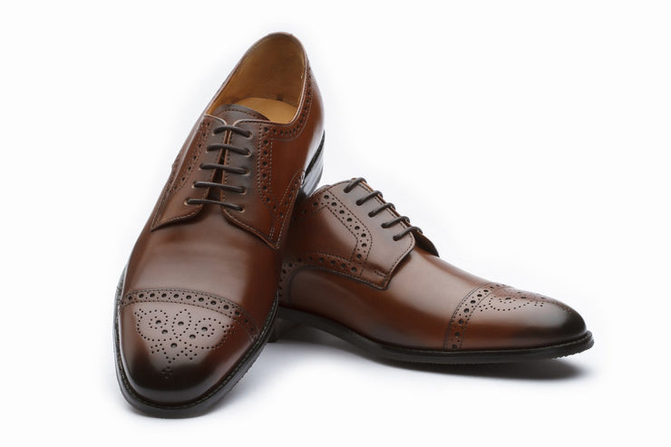 Derby - Toecap Derby Brogue - Brown