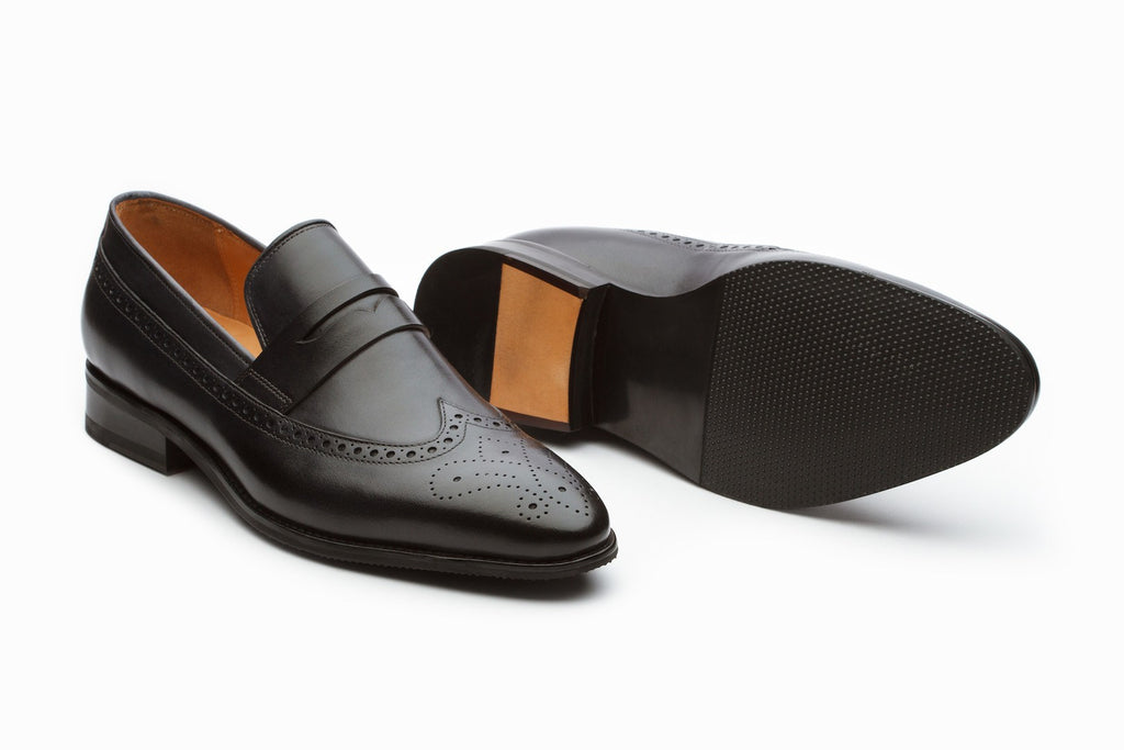 Loafers - Dark Grey Longwing Brogue Loafers