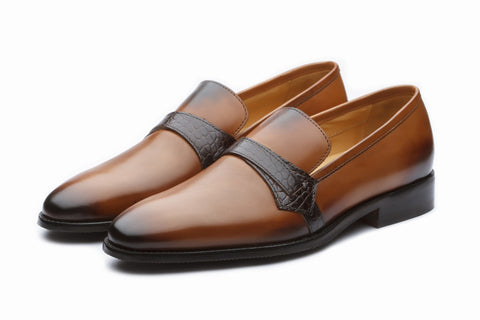 Loafers - Saddle Loafer - Tan