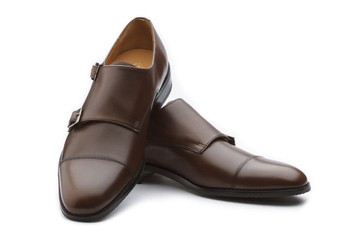 Monkstraps - Adrian Leather Shoes - Dark Brown