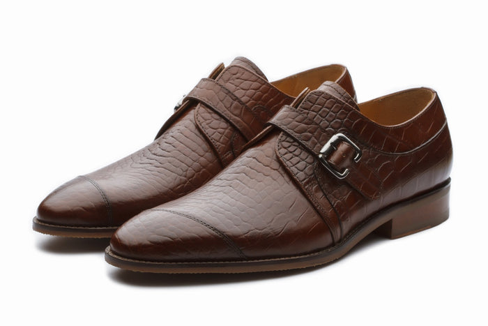 Monkstraps - Single Monkstrap - Crocodile Brown