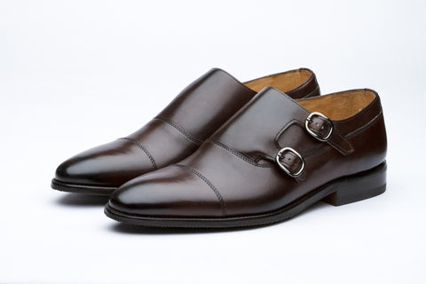 Monkstraps - Toecap Double Monk - Dark Brown
