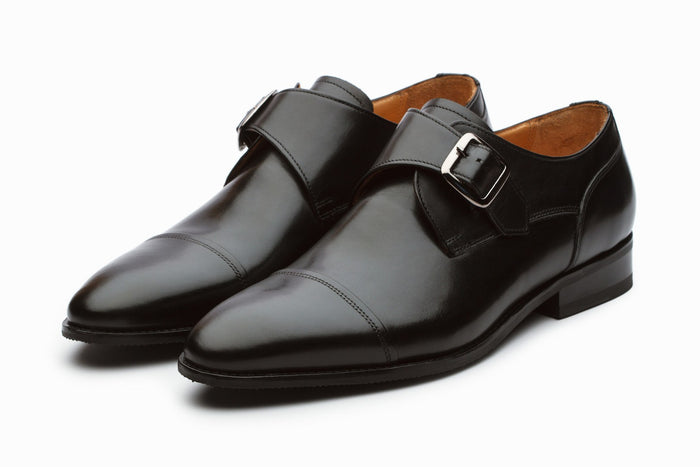 Monkstraps - William Leather Monkstrap Shoes - Black