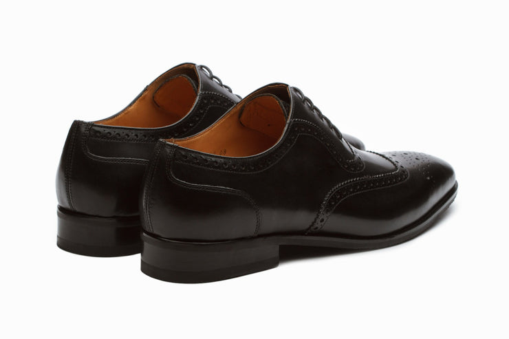 Oxfords - Austin Leather Oxford Brogue Shoes - Black