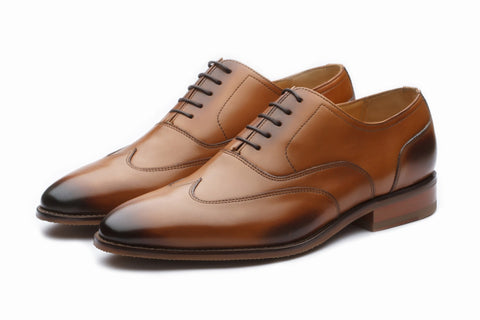 Oxfords - Sartorial Leather Oxford - Tan