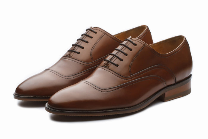 Oxfords - Tan Formal Leather Oxford Shoes