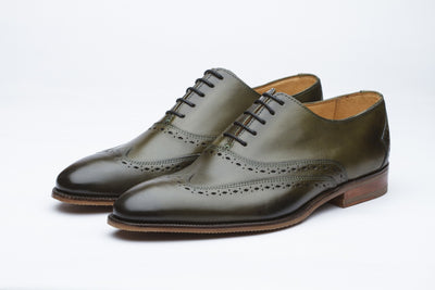 Oxfords - Wingtip Oxford - Olive