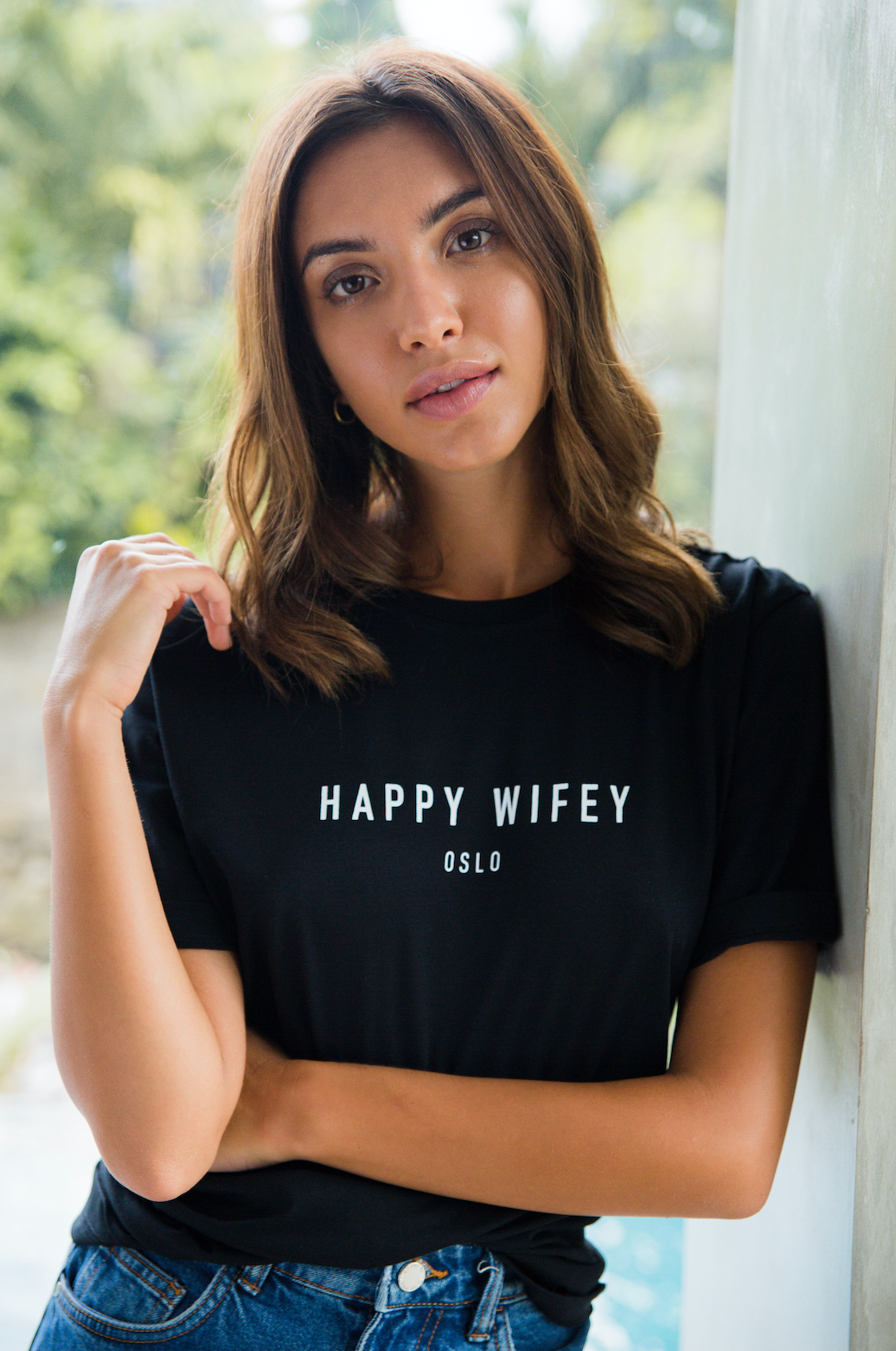 T-shirt Black - Happy Wifey