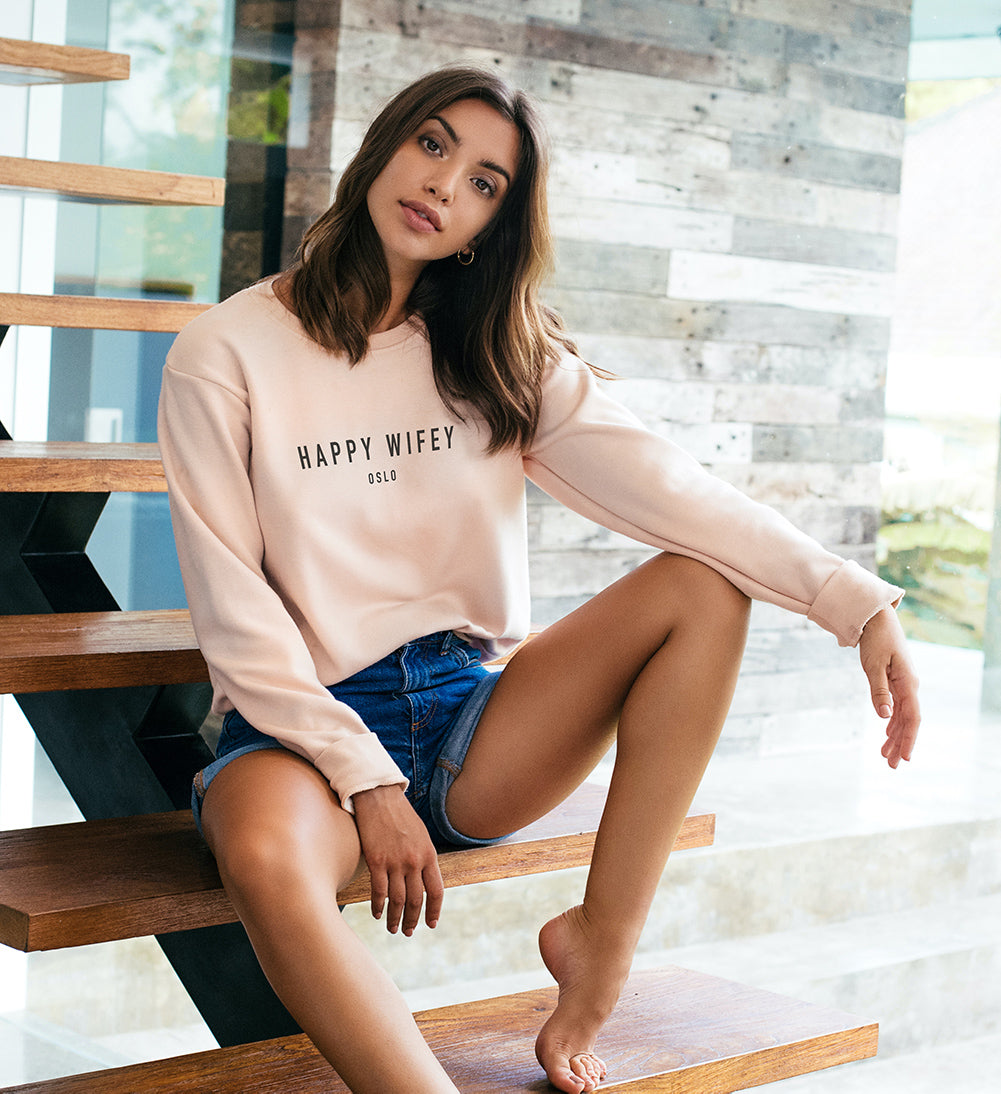 Sweatshirt Dusty Pink - Happy Wifey
