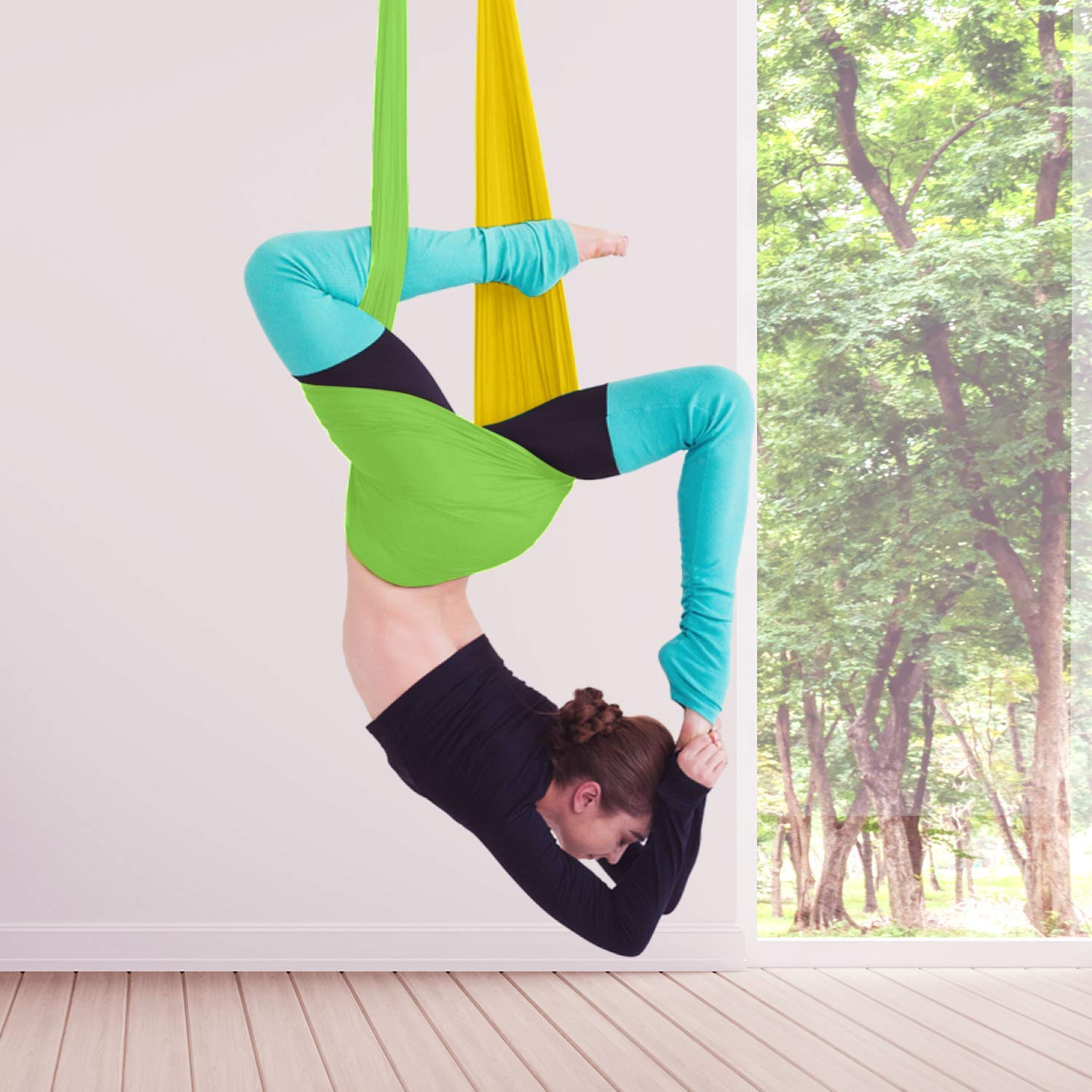 7 Aerial Yoga Hammock Poses Their Benefits To The Human Body Hammock Town