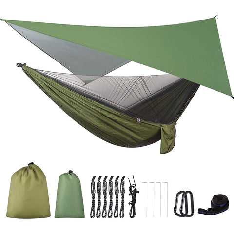 Firiner Camping Hammock with Rain Fly Tarp and Mosquito Net Tent