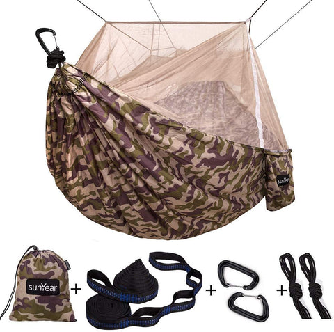 Sunyear Camping Hammock with Mosquito/Bug Net