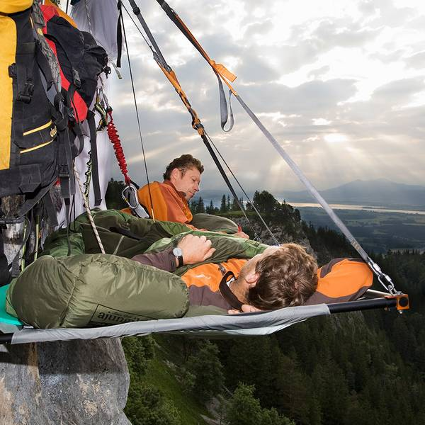 sleeping-on-the-side-of-a-rock