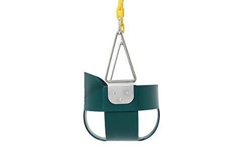 Toddler Swing Seat with Yellow Coated Swing Chains Fully Assembled