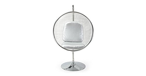 Kardiel Bubble Chair with Stand, Industrial Silver Cushion
