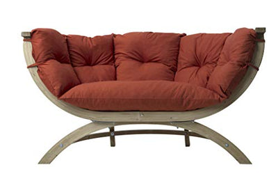 BYER OF MAINE, Globo Sienna Due Double Chair: Terra Cotta