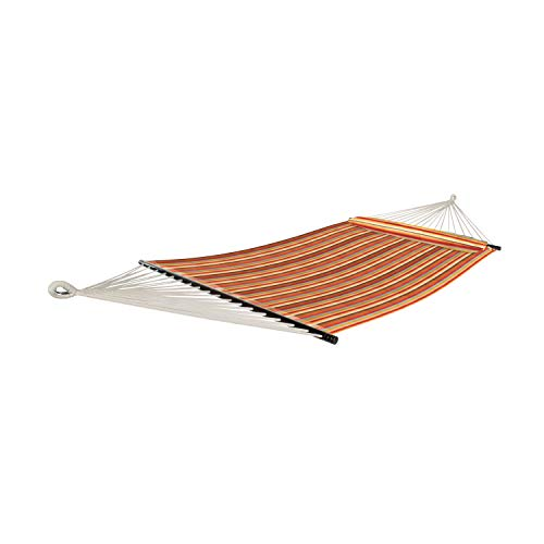 Bliss Hammocks 2-Person Hammock with a Spreader Bar: Toasted Almond Stripe
