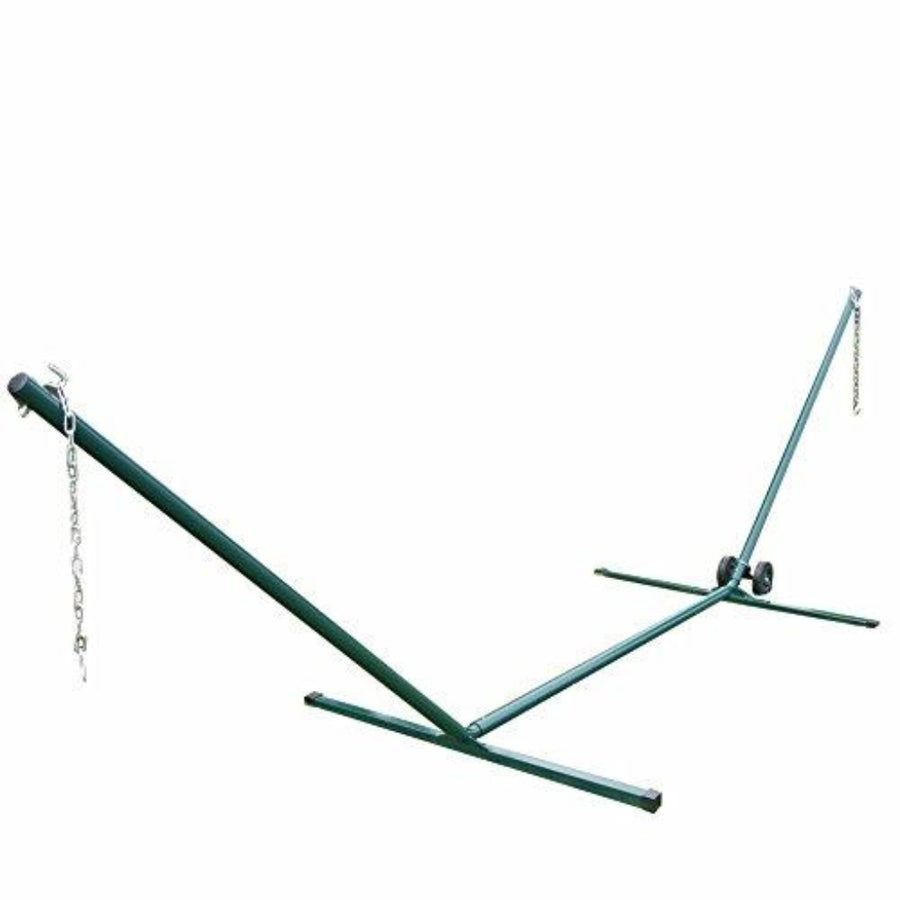 Heavy Duty Steel Tubing Hammock Stand + Hammock Stand Wheel Kit