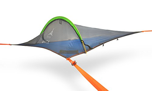 96eb775a8 Tentsile UNA 1-Person All-Season Suspended Camping Tree House Tent, Orange  Rainfly